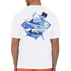 Guy Harvey Mens Slam Catch Short Sleeve T-Shirt