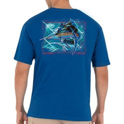 Guy Harvey Mens Patriotic Sailfish Short Sleeve T-Shirt