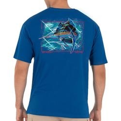 Mens Patriotic Sailfish Short Sleeve T-Shirt