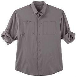 Reel Legends Mens Shadester Solid Long Sleeve Shirt