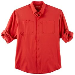 Reel Legends Mens Shadester Solid Long Sleeve Shirt