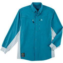 Loco Skailz Mens Conquest Woven Long Sleeve Fishing Shirt