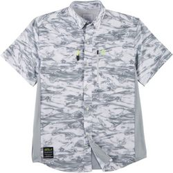 Loco Skailz Mens Conquest Halftone Camo Fishing Shirt