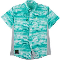 Mens Conquest Icy Grouper Fishing Shirt
