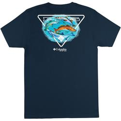 Mens PFG Triangle Fish Short Sleeve T-Shirt
