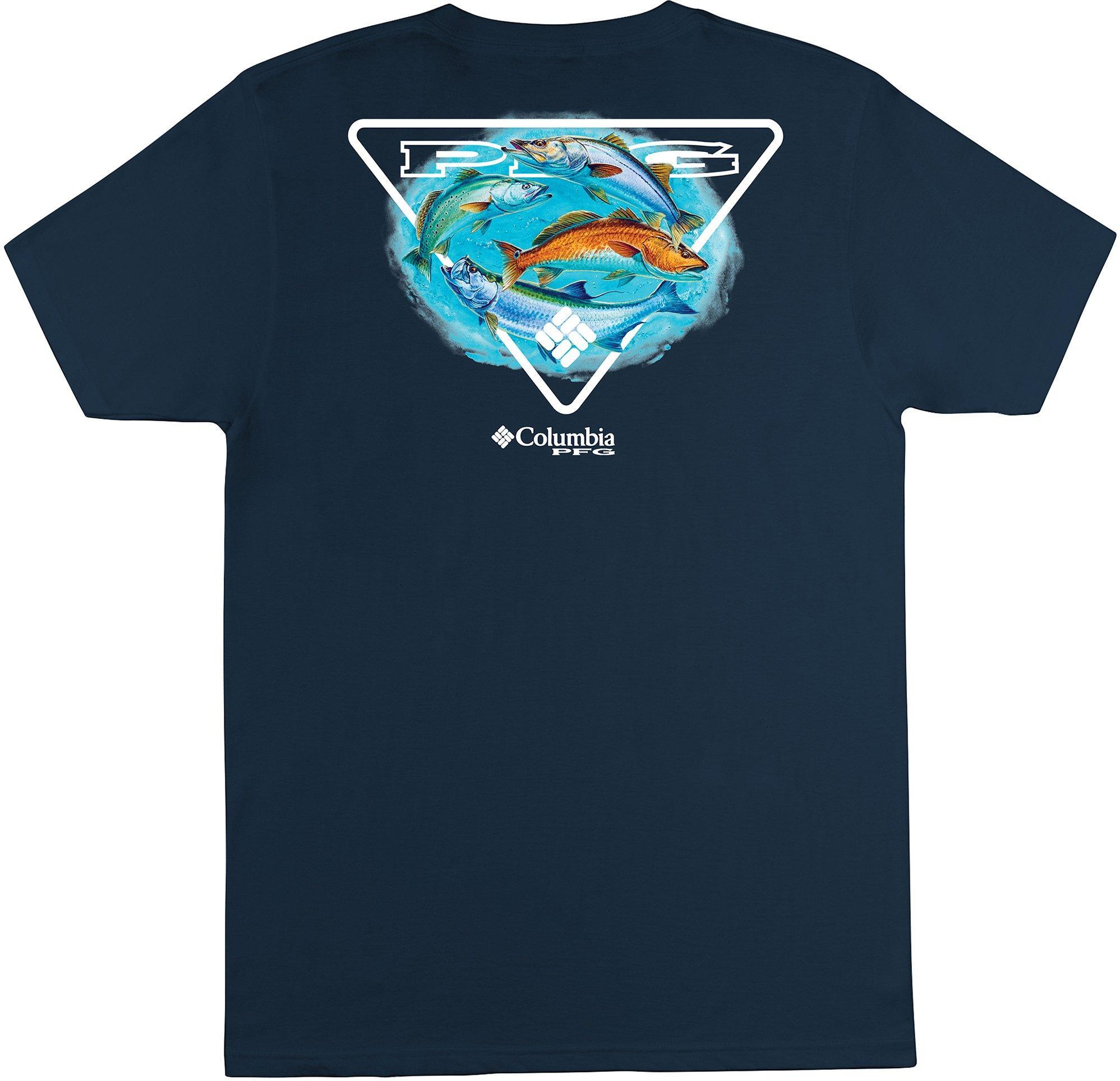 Columbia New PFG Fishing Salute Short Sleeve Fishing T-Shirt Men/'s Medium Red