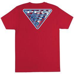 Columbia Mens PFG Declan Solid Americana Logo T-Shirt