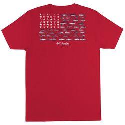 Columbia Mens PFG SMOG Solid Americana T-Shirt