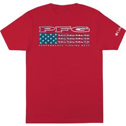 Mens PFG Cairy Fish Flag Short Sleeve T-Shirt