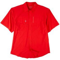 Reel Legends Mens The Ventilator Solid Short Sleeve Shirt