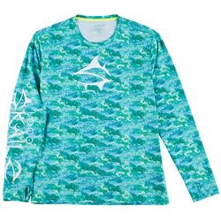 Loco Skailz Mens Grouper Camo Long Sleeve T-Shirt