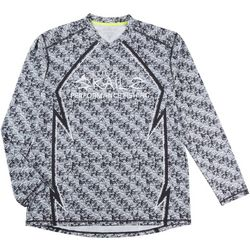 Loco Skailz Mens Fin Skin V-Neck Long Sleeve T-Shirt