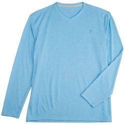 Reel Legends Mens Freeline Heather Stripe V-Neck  T-Shirt