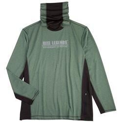 Reel Legends Mens Reel-Tec Solid Neck Shield  T-Shirt