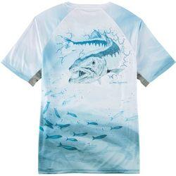 Reel Legends Mens Reel-Tec Barracuda Short Sleeve T-Shirt