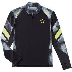 Loco Skailz Mens Tournament Mackerel Quarter Zip Shirt