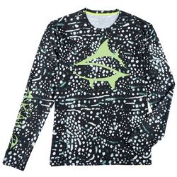 Loco Skailz Mens Whale Shark Long Sleeve T-Shirt