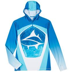 Mens Ocean Current Quarter Zip Hoodie