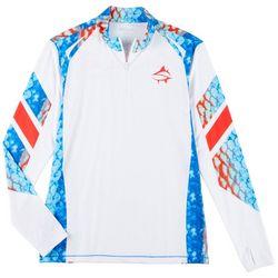 Mens Tournament Parrot Fish Quarter Zip Shirt