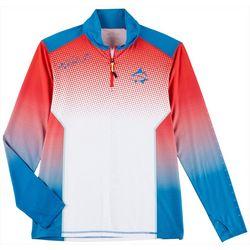 Mens Americana Pride Quarter Zip Shirt