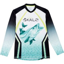 Loco Skailz Mens Captain Snook V-Neck Long Sleeve T-Shirt