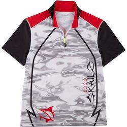 Mens Camo Quarter Zip Short Sleeve Shirt