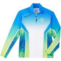 Loco Skailz Mens Molecular Mahi Quarter Zip Shirt