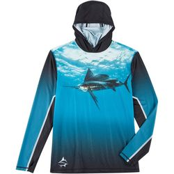 Loco Skailz Mens Sailfish Neck Shield Long Sleeve Hoodie