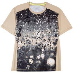 Loco Skailz Mens Simply Taupe Print Raglan T-Shirt