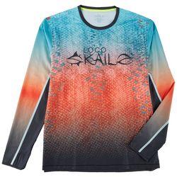 Loco Skailz Mens Second Skin Rainbow Scale T-Shirt