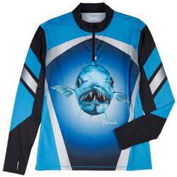 Loco Skailz Mens Tournament Barracuda Quarter Zip Shirt
