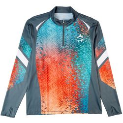 Loco Skailz Mens Tournament Rainbow Snook Quarter Zip Shirt