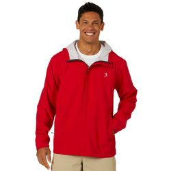Reel Legends Mens Solid Waterproof Rain Jacket