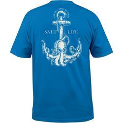 Mens Octopus Anchor Short Sleeve T-Shirt