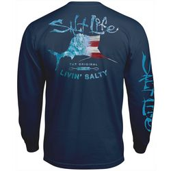 Salt Life Mens Amerisail Long Sleeve T-Shirt