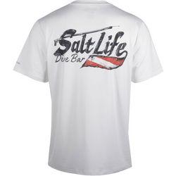 Salt Life Mens SLX Salty Dive Bar Short Sleeve T-Shirt