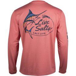Salt Life Mens SLX Marlin Performance Long Sleeve T-Shirt