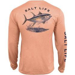 Salt Life Mens SLX Tuna Performance Long Sleeve T-Shirt