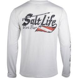 Salt Life Mens SLX Salty Dive Bar Long Sleeve T-Shirt
