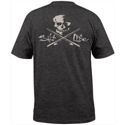 Mens Skull & Poles Pocket Short Sleeve T-Shirt
