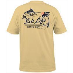 Salt Life Mens Wake & Bait Pocket T-Shirt