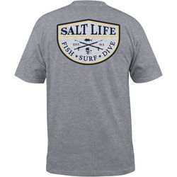 Salt Life Mens Spearfish Badge T-Shirt
