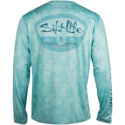 Salt Life Mens SLX Mission Camo Long Sleeve T-Shirt