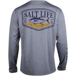 Salt Life Mens SLX Tuna Badge Long Sleeve Fishing T-Shirt
