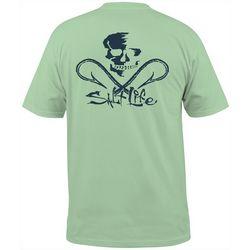Salt Life Mens Skull & Hooks Short Sleeve Pocket T-Shirt