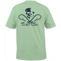 Mens Skull & Hooks Short Sleeve Pocket T-Shirt