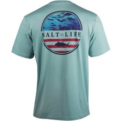 Salt Life Mens SLX RESPECT Heathered Short Sleeve T-Shirt