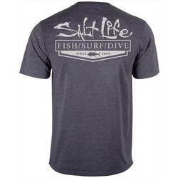 Salt Life Mens Essentail Heathered Performance T-Shirt