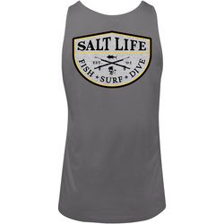 Salt Life Mens Spearfish Badge Tank Top