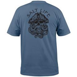 Mens Captain Octopus Short Sleeve T-Shirt